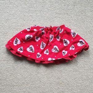 Disney Store Minnie Mouse Corduroy Twirl Skort 24m